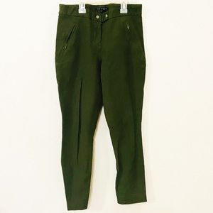 Theory size 0 army green stretchy skinny pants
